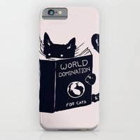 world iPhone & iPod Cases featuring World Domination For Cats by Tobe Fonseca