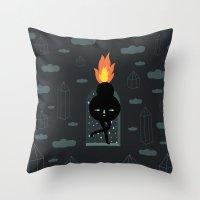 Mimu & The Fireboy Throw Pillow