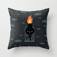 Mimu & The Fireboy Throw Pillow