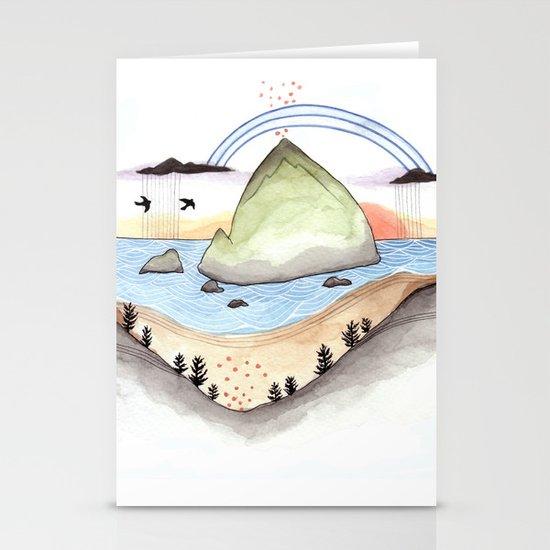 Haystack Rock Stationery Card