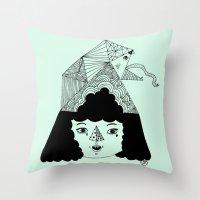 rainbowkitekidssnake Throw Pillow