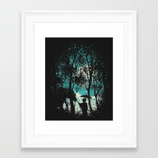 The Bear And The Geisha Framed Art Print