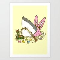 The Easter Shark Art Print