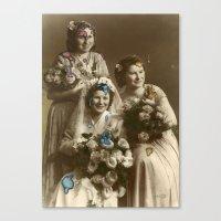 Blobby Weddingalingading… Canvas Print