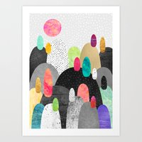 Little Land Of Pebbles Art Print