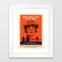 Once Upon A Time In The West Poster: Harmonica Framed Art Print