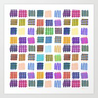 Marker Hash Art Print
