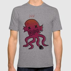 Baked Octopus Poster Mens Fitted Tee Athletic Grey SMALL