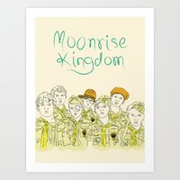 moonrise kingdom Art Prints featuring Moonrise Kingdom by Elly Liyana