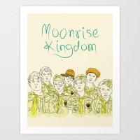 moonrise kingdom Art Prints featuring Moonrise Kingdom by Elly Liyana