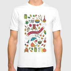 Autumn SMALL Mens Fitted Tee White