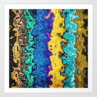 Macro Molecules of Color Art Print