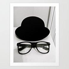 Nerd Glasses and Hat Art Print