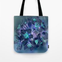 FLOWERS -Blue Blossoms Tote Bag