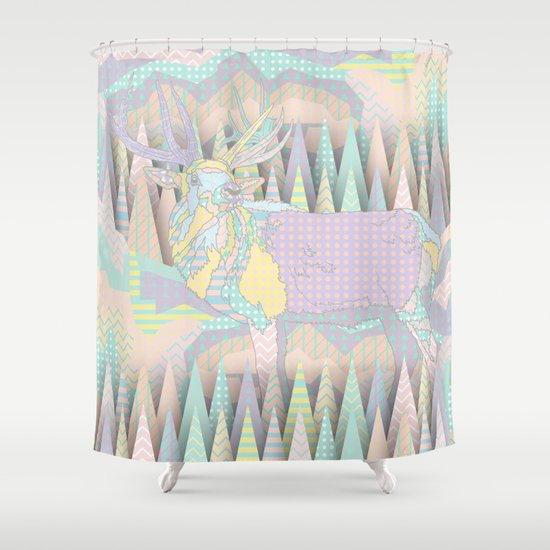 Deer Forest Shower Curtain
