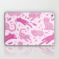 Pink Playful Kittens Laptop & iPad Skin