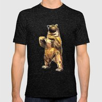 Central Park Bear Mens Fitted Tee Tri-Black SMALL