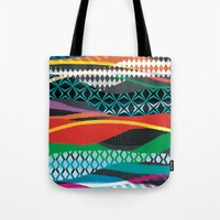 Wave Blaze Tote Bag