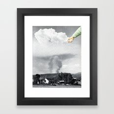 Paste Framed Art Print