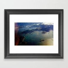 view from the air Framed Art Print