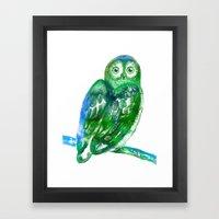 Eule   Owl Framed Art Print
