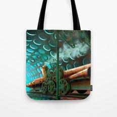 Steam Train Punk Tote Bag