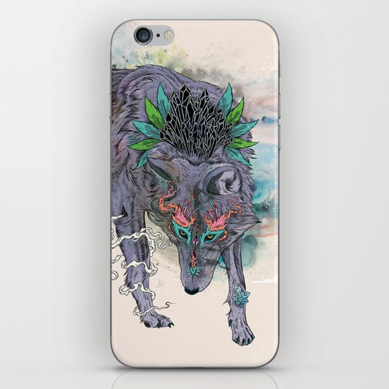 Journeying Spirit (wolf) iPhone & iPod Skin