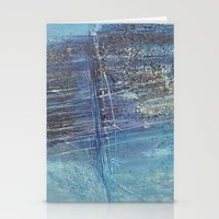 Blue Green Abstract Stationery Cards