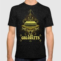Back To The Future Gigaw… Mens Fitted Tee Tri-Black SMALL