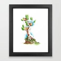 CabanArbre-Souche Framed Art Print
