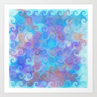 Thalassa's Curls Art Print