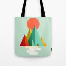 Little Geometric Tipi Tote Bag