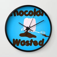 Chocolate Wasted (blue) Wall Clock