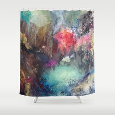 Strength and Happiness  Shower Curtain