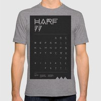 Harf 77 Poster (Black) Mens Fitted Tee Athletic Grey SMALL