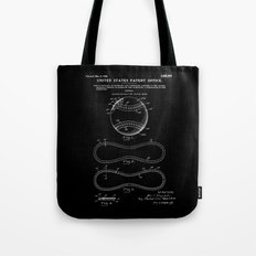 Baseball Patent - Black Tote Bag