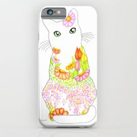 Spring Garden Kitty with the Green Eyes iPhone 6 Slim Case