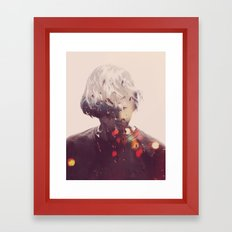 Showers (Double Exposure) Framed Art Print