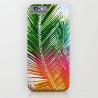 iPhone & iPod Case featuring Neon Rainbow palm by Goldfish Kiss