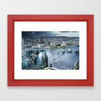 Earth Falls Away Framed Art Print