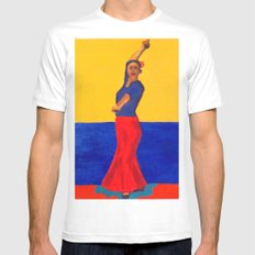 The Flamenco Dancer - ANALOG zine Mens Fitted Tee White SMALL