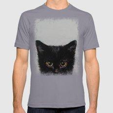 Black Kitten Mens Fitted Tee Slate SMALL