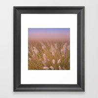 Sunset Twigs Framed Art Print