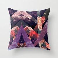 ROSES IN THE GALAXY Throw Pillow