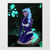 Pin-Up Ghoul Canvas Print