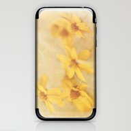 iPhone & iPod Skin featuring Dreamy Yellow Coreopsis by Photography And Fine…