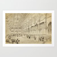 Grand Ball Hotel De Ville Paris Art Print