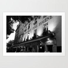 B&W Chez Eugene Art Print