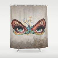 Butterflies eyes Shower Curtain