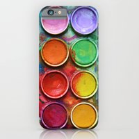 iPhone Cases featuring Paint box by DavinciArt